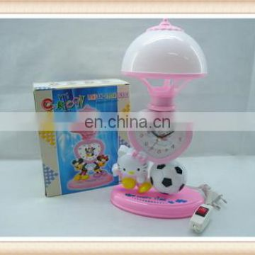 Plastic toys Lovely decoration gift kids clock and lamp toy