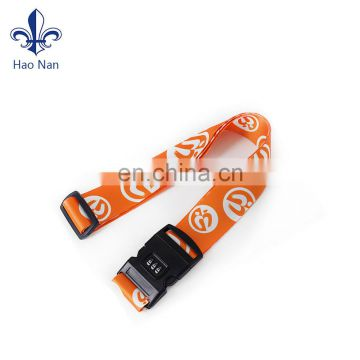 Wholesale promotional custom eco-friendly cross luggage strap with plastic buckle