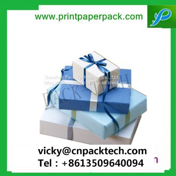 Customized Square New Year Gift Box Present Packaging Gift Boxes with Color Ribbon