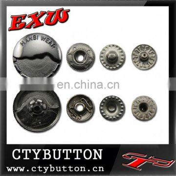 CTY-SO72 stainless steel snap button for clothing