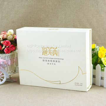 Custom size and printing 2mm super solid wall gift paper packaging box with paper tray holder