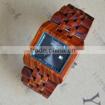 popular style , wooden watch with different color of wood for mens