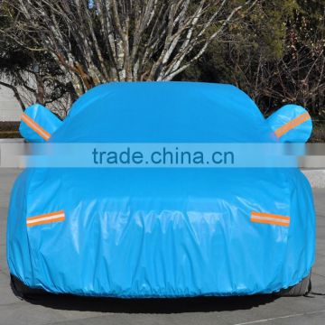 2015 hot sale car cover blue color reflective band