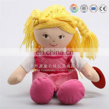 Hot sale & good quality cartoon image plush toys stuffed African American dolls