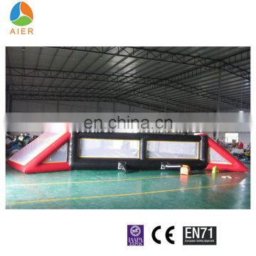 Large triangle inflatable soccer field for sale