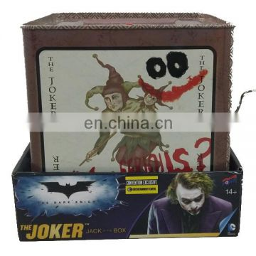 Jack in the box Plastic head plush body The Dark Knight Joker Shenzhen manufacture Umay-A0068