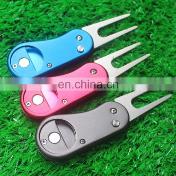 2017 Most creative pitch fork/foldable golf divot repair tool