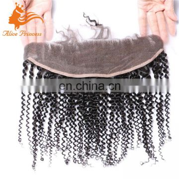 New Hair Styling Virgin Human Lace Frontals With Baby Hair 13x4 Size Brasilian Hair Kinky Curly Frontal Closure