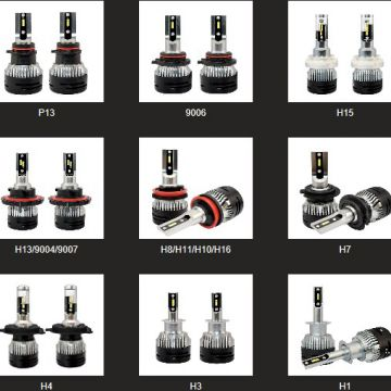 Wholesale LED Car Headlight C6, S1, S2, T1, T8, X3, V5, V5S, V1S, K6S, K8S, B6, Aladdin, 7G, T8S and MINI series etc