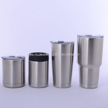 Cross-border E-commerce hot sale stainless steel YETI mug with plastic hand hold