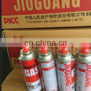 Aerosol Butane gas can for portable gas stove for cooking