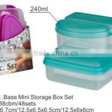 plastic mini food container for vegetable