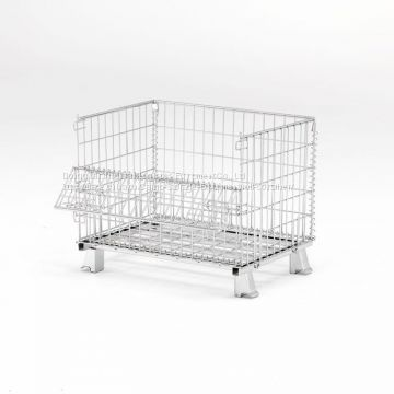 Stackable Metal Storage Wire Mesh Container Foldable Heavy Duty