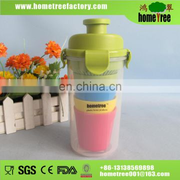 Colourful BPA free plastic travel folding cup 200ML