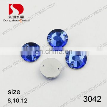 DZ-3042 clear crystal color sew on crystal stones for clothing