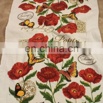 Low- Priced High Quality Printed Plain White 100% Cotton Tea Towels