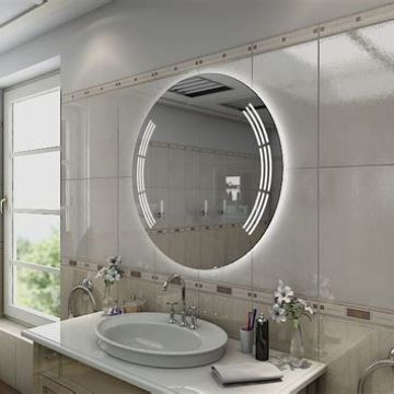 Popular Customized Design Hotel Mirror Smart Round Mirror With Led Light