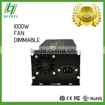 Light Ballast 1000W Dimmable With Cooling Fan HID Ballast