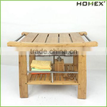 Havey Duty Bamboo Shower Bench/Homex_BSCI