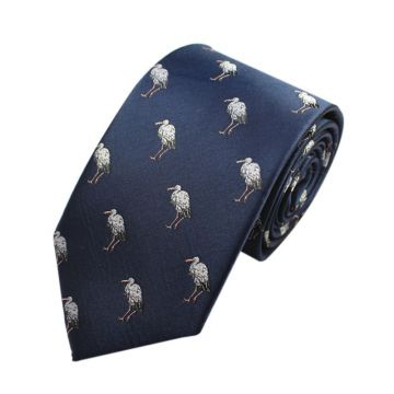 Double-brushed Adjustable Silk Woven Neckties Standard Length Blue