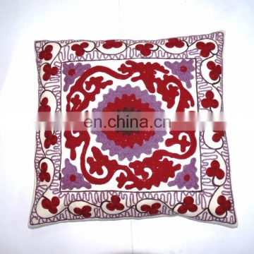 "Home Decorative Embroidered Suzani Cushion Cover 18x18"" Indian Pillow Case Wholesale"