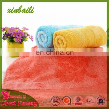China Factory Solid Color Jacquard Bamboo Hand Towel