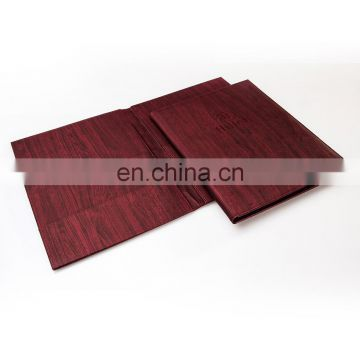 Hot Sale Handmade Eco-friendly Leather Resturant Wine Menu