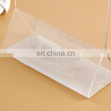 Custom table Clear Display Countertop Brochure Acrylic Holder