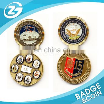 OEM Custom Made Promotional Fashionable Engraved Coin Stamp Coin Metal Plated Coin
