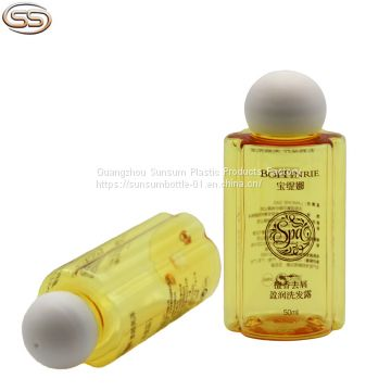 50ml Mini Plastic Personalized Shampoo Bottle with Matte Screw Cap
