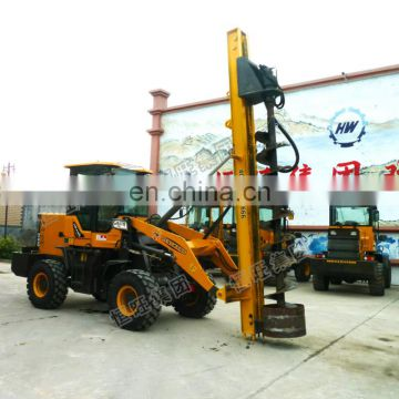 solar mini hydraulic helical ground screw pile driver for telegraph pole