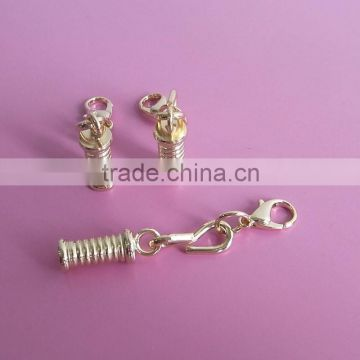 gold plating water bottle design zip toggles zipper pull tab