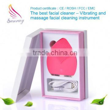 Skin care center electric face washing cleaner cleaning facial skin scrubber for facial cleaning