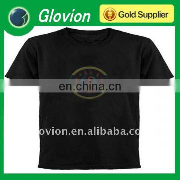 Fashion el equalizer t-shirt el light-up t-shirt el panel t shirt
