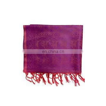 Indian High quality banarasi silk scarf/stoles/wrap shawl elegant Banarasi silk scarves wrap stole fringe ethnic women dupatta