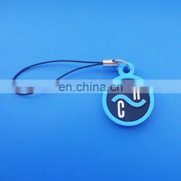customized logo design round shape mobile strap brand printed on the back phone stripe
