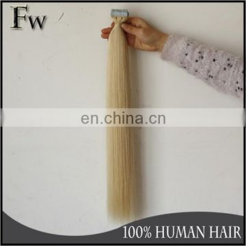 High quality cheap real russian human hair tape hair extension