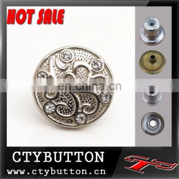 CTY-DP(104) hot sale acrylic stone metal button