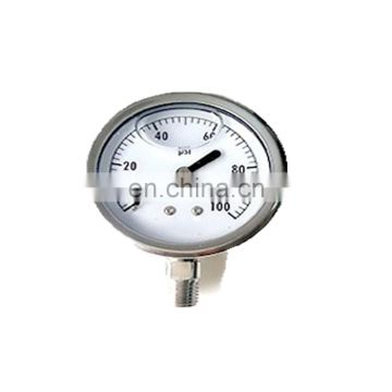 40mm Bottom Connection Stainless Steel  Pressure Gauge
