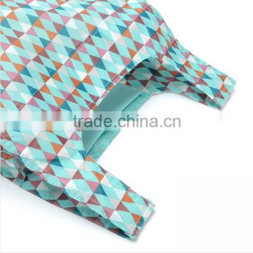 Full colour sublimation printed RPET polyester foldable shopping bag