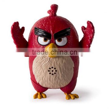 Newest Movie Characters Red Talking Birds Action Figures/Custom Make Game Characters Talking Animal Action Figures Factory