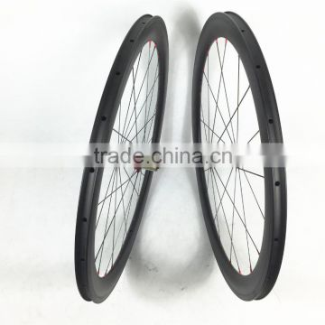Far Sports V shape 700C Full carbon clincher wheelset, 50mmx23mm bicycle wheels carbon with Bitex hub cheap and competitive