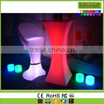 Bottle Storage Glow Cocktail table , Liquid Drinking Wine Led Bar Counter