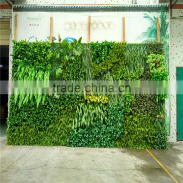 2017 Hot sale UV Anti manufacturer foliage outdoor artificial green wall