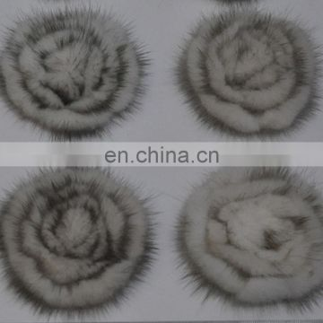 Solid color girl women genuine fur accessory elastic handmade fur hairband