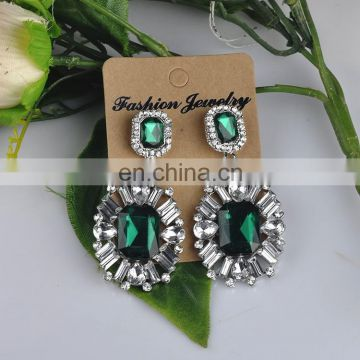 hot sale low MOQ high quality cheap price rhinestone women fashion earring