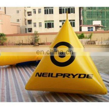 inflatable swim buoys, triangular shape marker floating for advertising