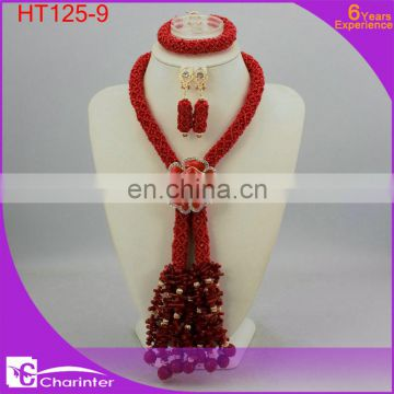 african beads jewelry set african fashion jewelry sets african wedding jewelry nigerian coral beads HT125-3