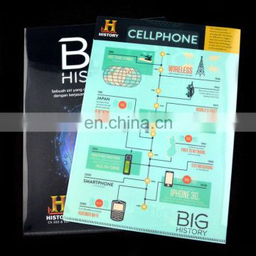 Custom design printed a4 size plastic pp clear file folder manufacturer