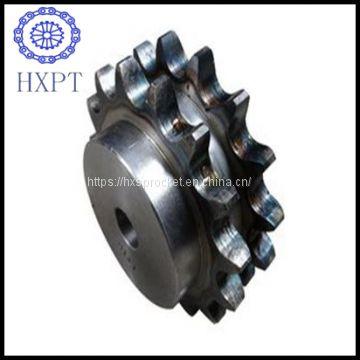 ANSI Steel Duplex industrial chain sprocket set with Hub